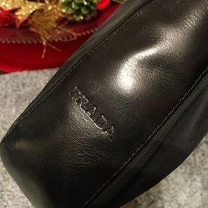Authentic Prada leather/nylon bag